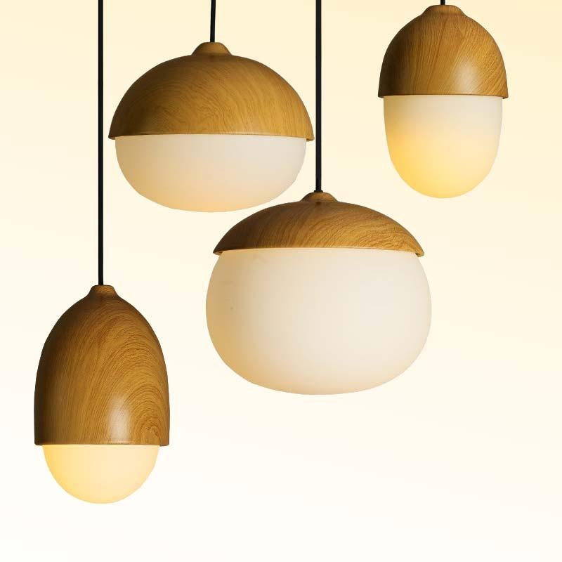 Bộ đèn thả nhôm hoa văn gỗ Venus 85775