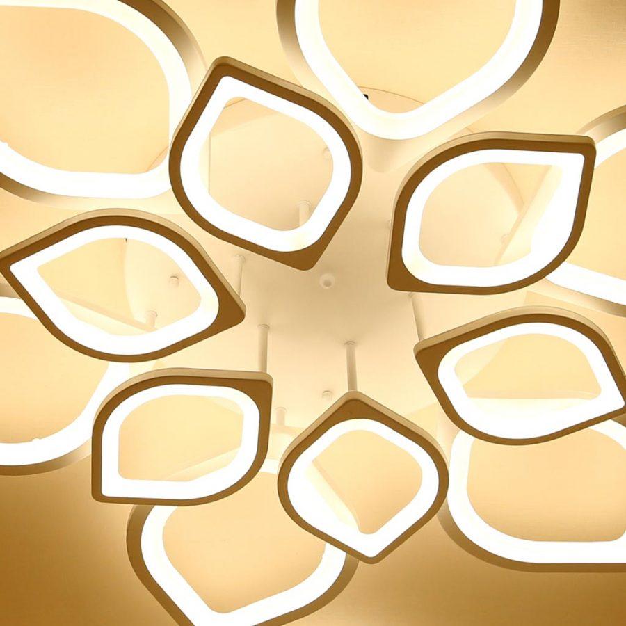 Đèn ốp trần LED mâm tròn 85cm hoa sen 12 cánh Venus 1269/6+6 (120W)