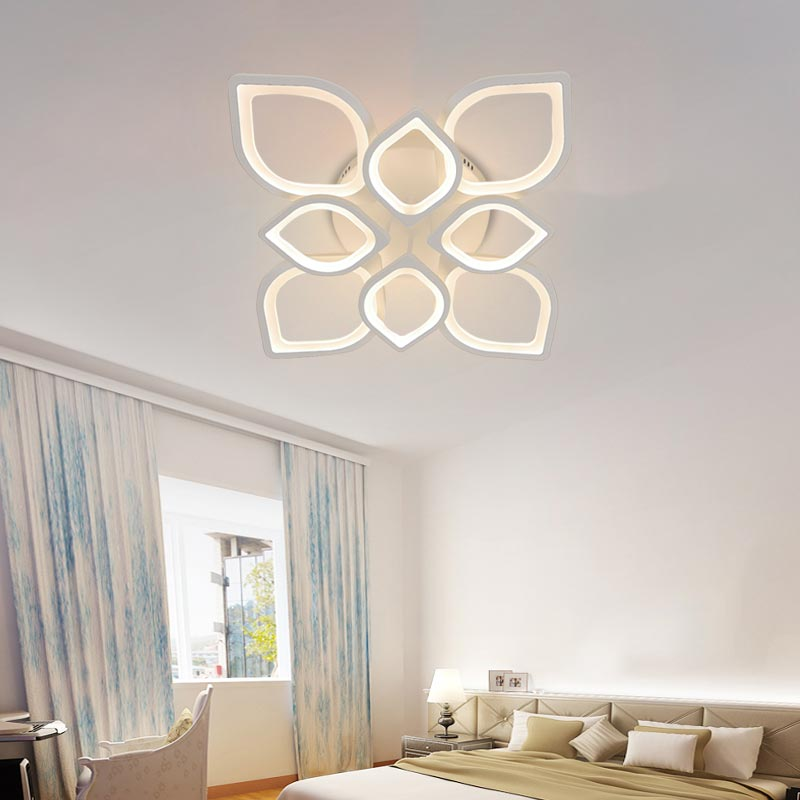 Đèn ốp trần LED hoa sen 8 cánh 600x600 Venus L1269/4+4 (100W)