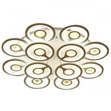 Đèn ốp trần mâm LED tròn 12 tay đồng tiền Venus 9560/6+6 (100)