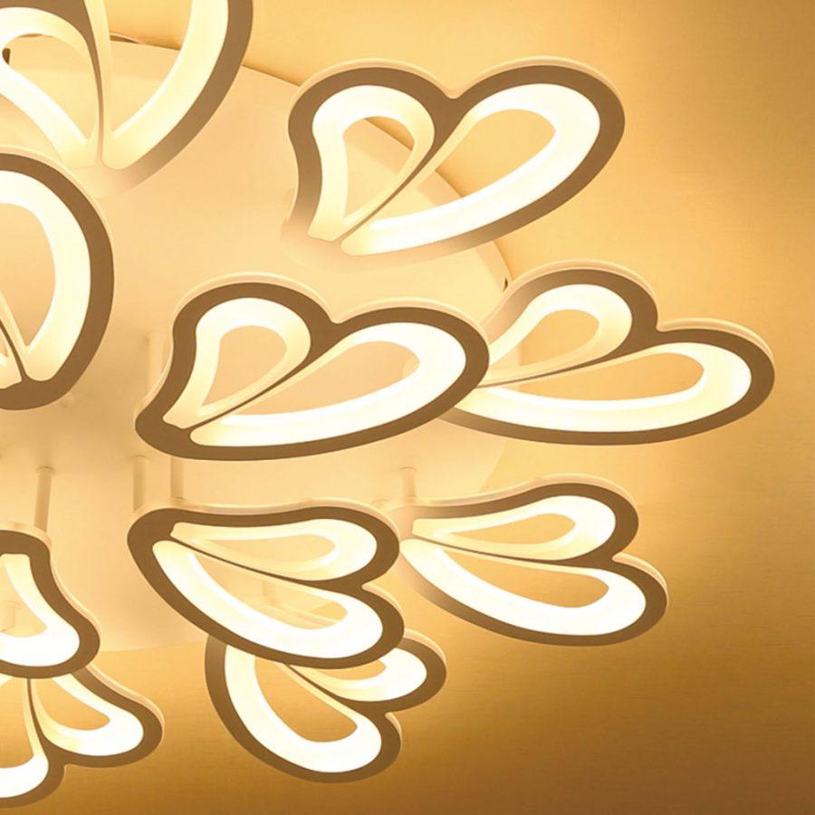 Đèn ốp trần hình trái tim mâm 15 tay 92cm Venus L1523/10+5 (150W)