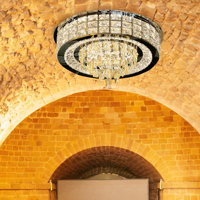 Đèn ốp trần LED pha lê mâm tròn Venus SP6638