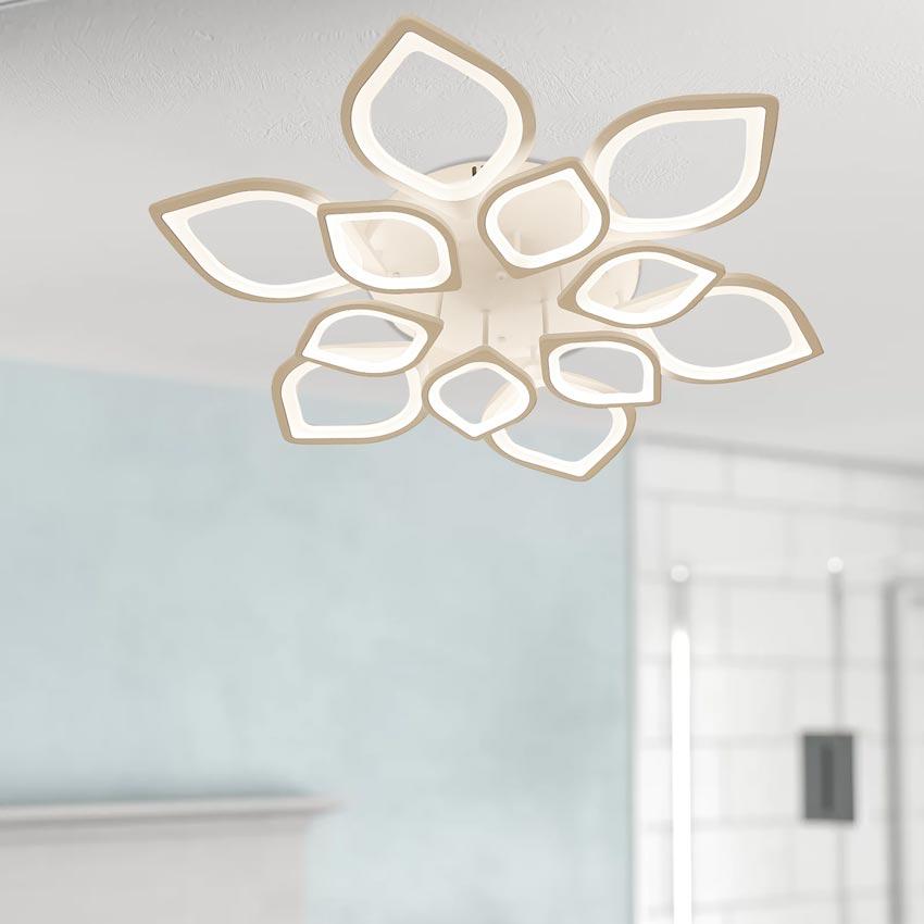 Đèn ốp trần LED mâm tròn 90cm Hoa sen 12 cánh Venus 1269/6+6