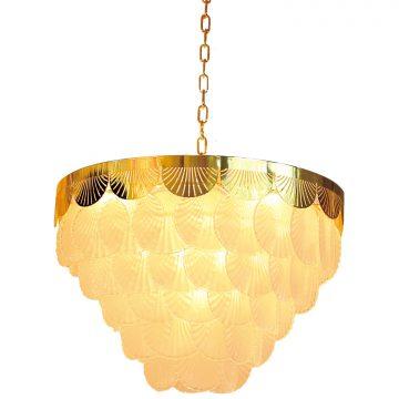 Đèn thả chùm thủy tinh hình vỏ sò cho phòng khách lãng mạn Venus NP86022