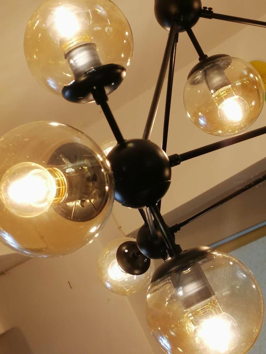 Đèn chùm màu tối 15 bóng thủy tinh Venus JH100/15P