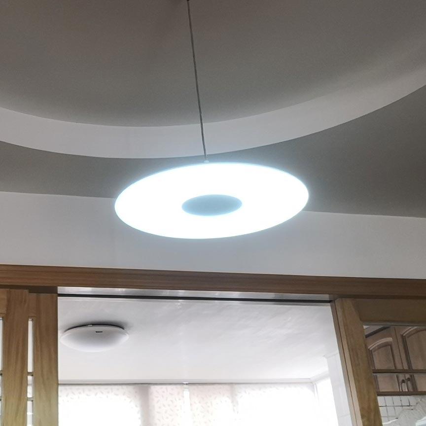 Đèn thả trần hình dĩa tròn nhôm sắt Venus 8812PL
