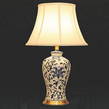 Đèn bàn chụp vải thân gốm VENUS KT9036