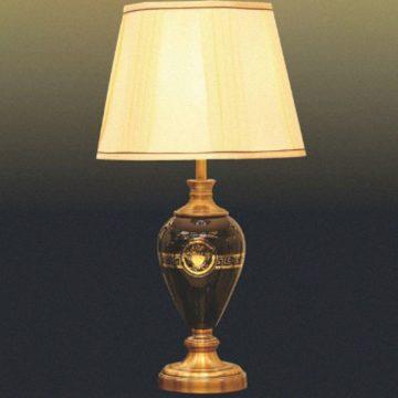 Đèn bàn chụp vải bình thủy tinh VENUS T1710
