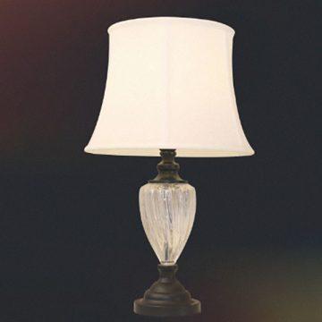 Đèn bàn chụp vải thân thủy tinh VENUS T1715