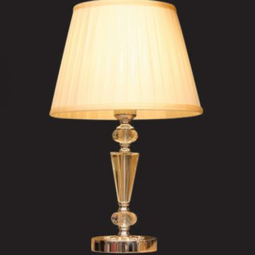 Đèn bàn chụp vải thân thủy tinh VENUS TS8559