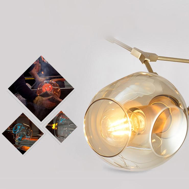 Đèn chùm 8 Bóng thân trà VENUS XCB8085/8