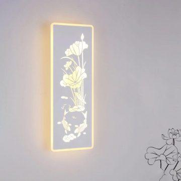 Đèn tường LED hình chữ nhật hoa sen cá chép Venus MB6298