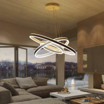 Đèn thả trần hình học 3 vòng tròn LED dây hiện đại Venus 1800/3