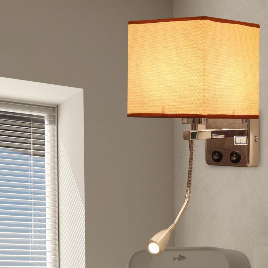 Đèn gắn tường đầu giường phòng ngủ kèm đèn rọi Venus HT7882/1