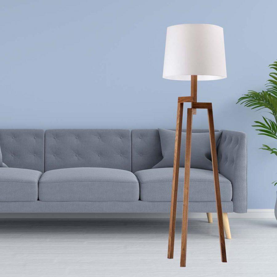 Đèn sàn đứng 3 chân gỗ Venus LD001