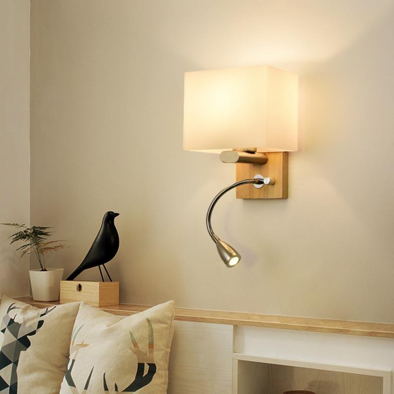 Đèn gắn tường đầu giường ngủ chân gỗ Venus CL8822