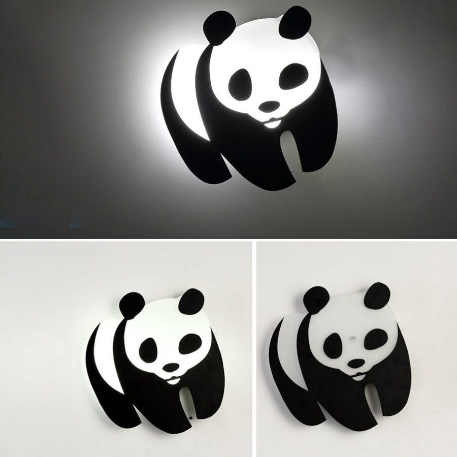 Đèn LED gắn tường phòng trẻ em hình gấu Panda dễ thương Venus 6051