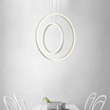 Đèn thả trần bàn ăn 2 vòng tròn LED Venus 6801/46