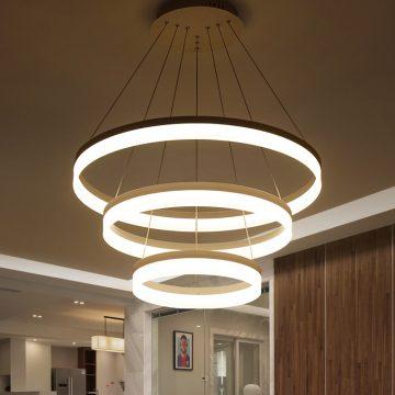 Đèn Thả LED 3 Vòng Tròn Cho Phòng Khách Venus 91049
