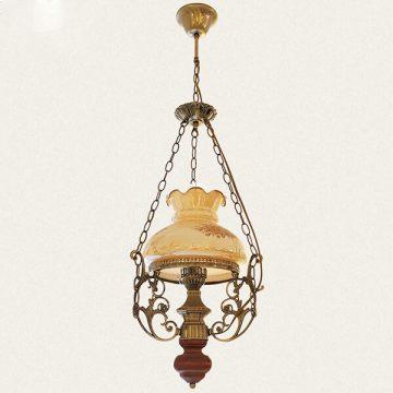 Đèn chùm đồng ngọn đèn dầu cổ điển VENUS 9908/3+1