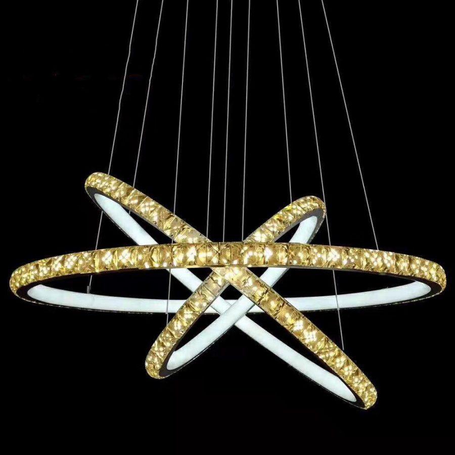 Đèn thả trần 3 vòng tròn LED pha lê VENUS D6630/345