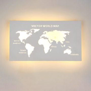 Đèn tường LED bản đồ thế giới chữ nhật Venus L1378