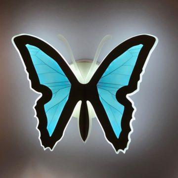 Đèn tường LED con bướm màu xanh Venus M2560B