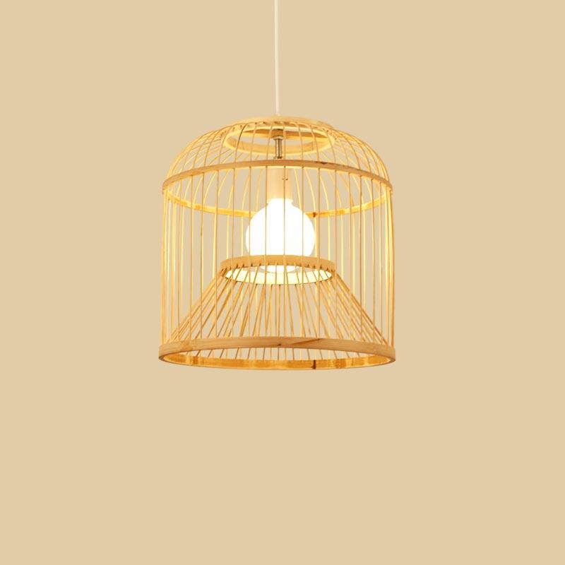Đèn thả mây tre lồng chim