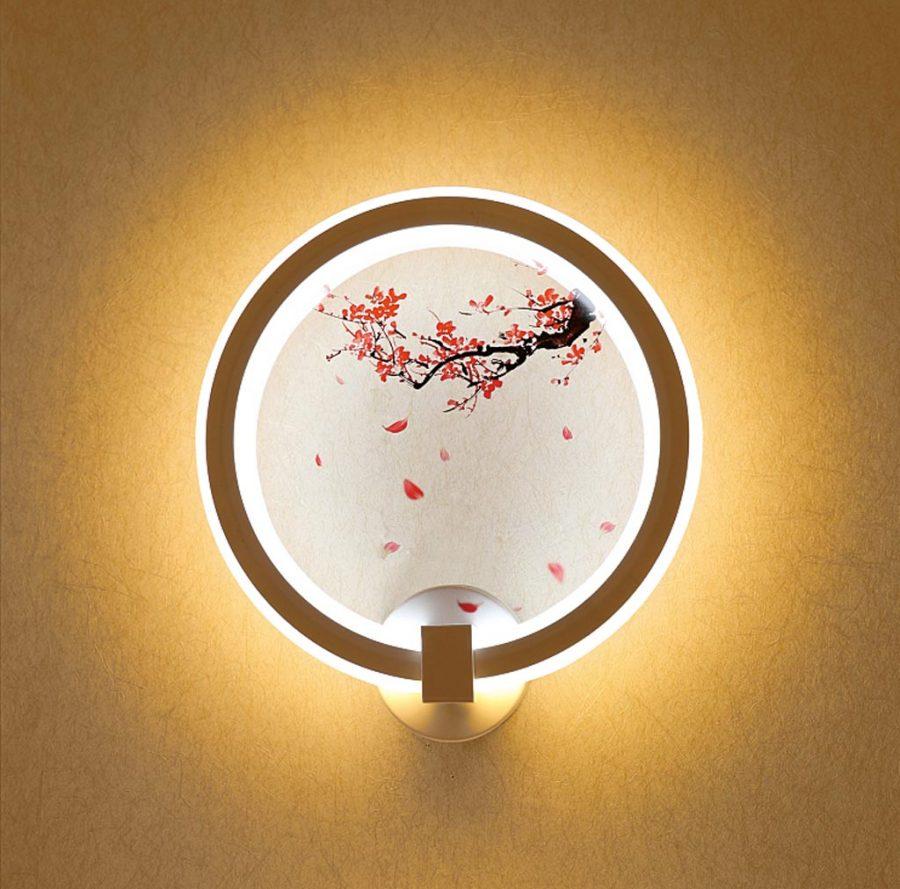 Đèn treo tường LED tròn hình hoa đào Venus VR3276