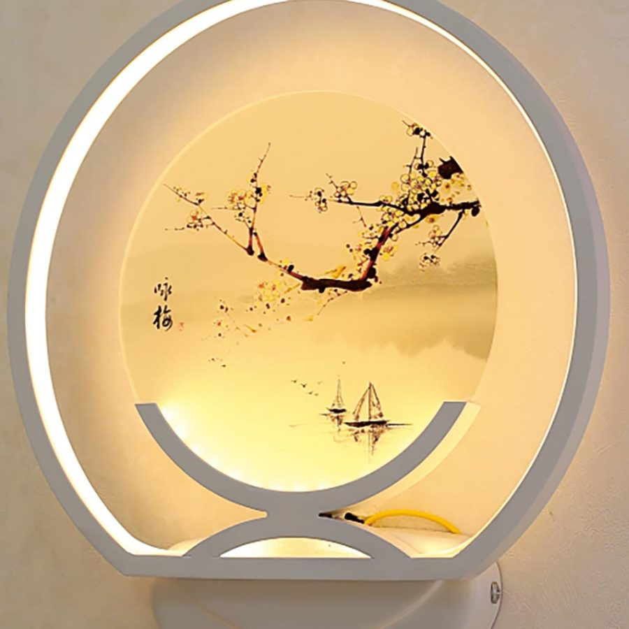 Đèn treo tường LED tròn thư pháp & hoa mai Venus VR2340/1