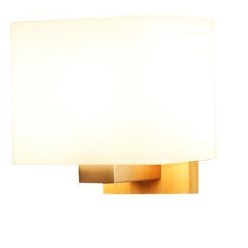 Đèn vách tường gỗ chao đèn thủy tinh hình vuông Venus