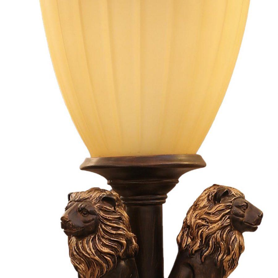 Đèn trụ gắn cổng ngoài trời con sư tử chao thủy tinh Venus VROG1102