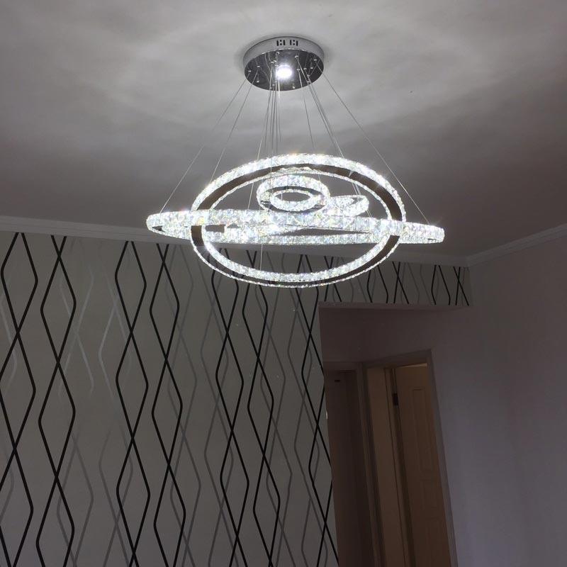 Đèn thả LED 4 vòng tròn pha lê Venus