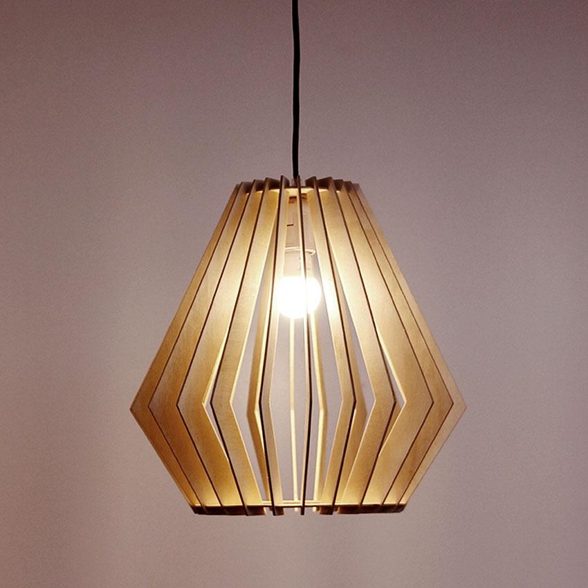đèn thả gỗ tự nhiên