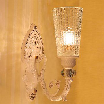 Đèn vách tường LED cổ điển thân gốm chao thủy tinh Venus VIR615/1