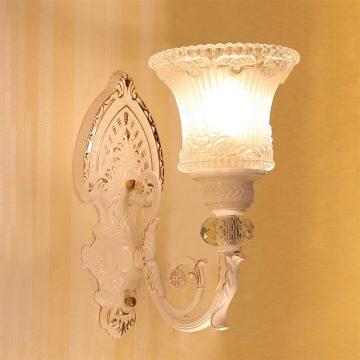 Đèn vách tường LED cổ điển thân gốm chao thủy tinh Venus VIR614/1