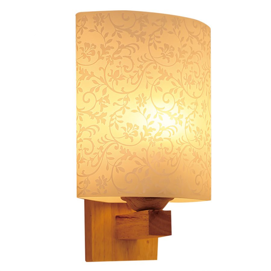 Đèn vách tường gỗ chụp đèn thủy tinh Venus VIR1719/1