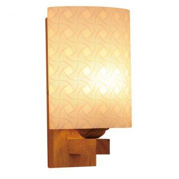 Đèn vách tường gỗ chụp đèn thủy tinh Venus VIR1064/1