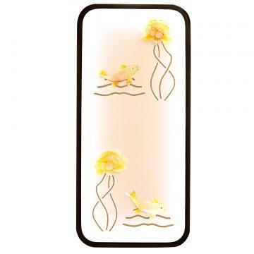 Đèn tường LED Tranh tứ quý hoa sen vàng và con cá Venus 6503