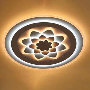 Đèn ốp trần mâm LED Mica Hoa Sen cho phòng khách Venus KD0079/3