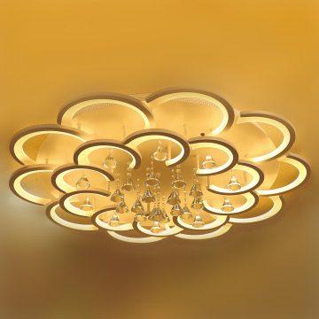 Đèn ốp trần mâm LED Mica 2 tầng hoa 20 cánh Venus VRL8151/10+10
