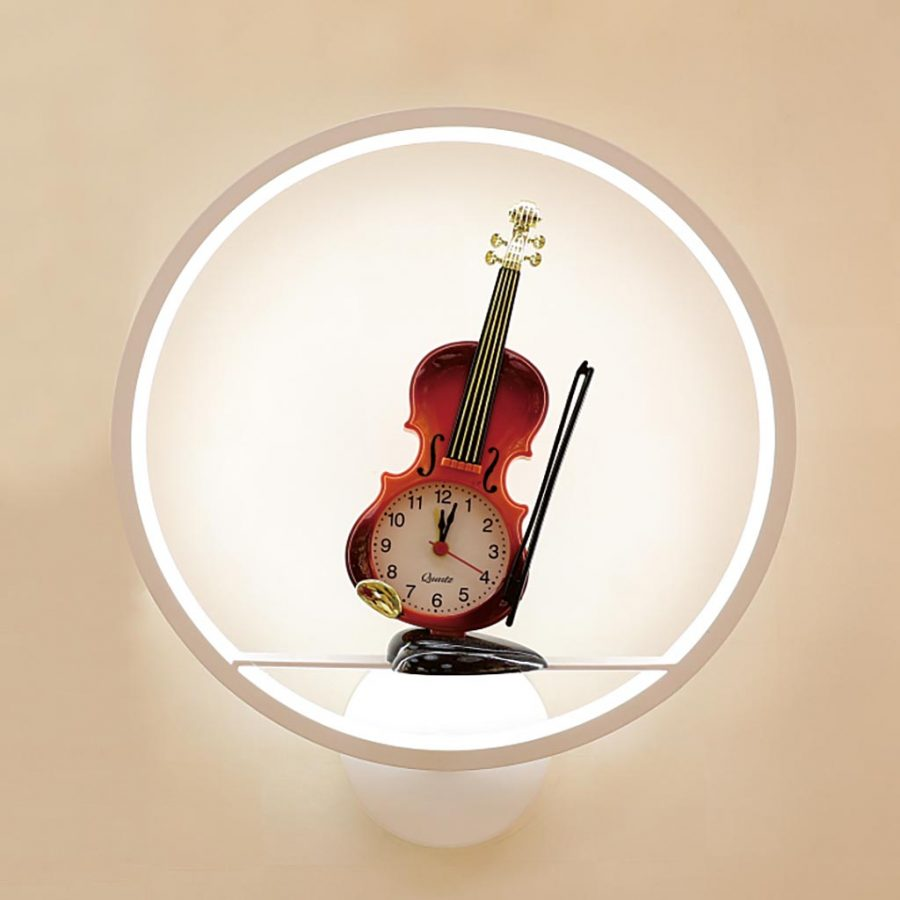 Đèn treo tường LED đồng hồ hình cây đàn vĩ cầm Venus VR6227