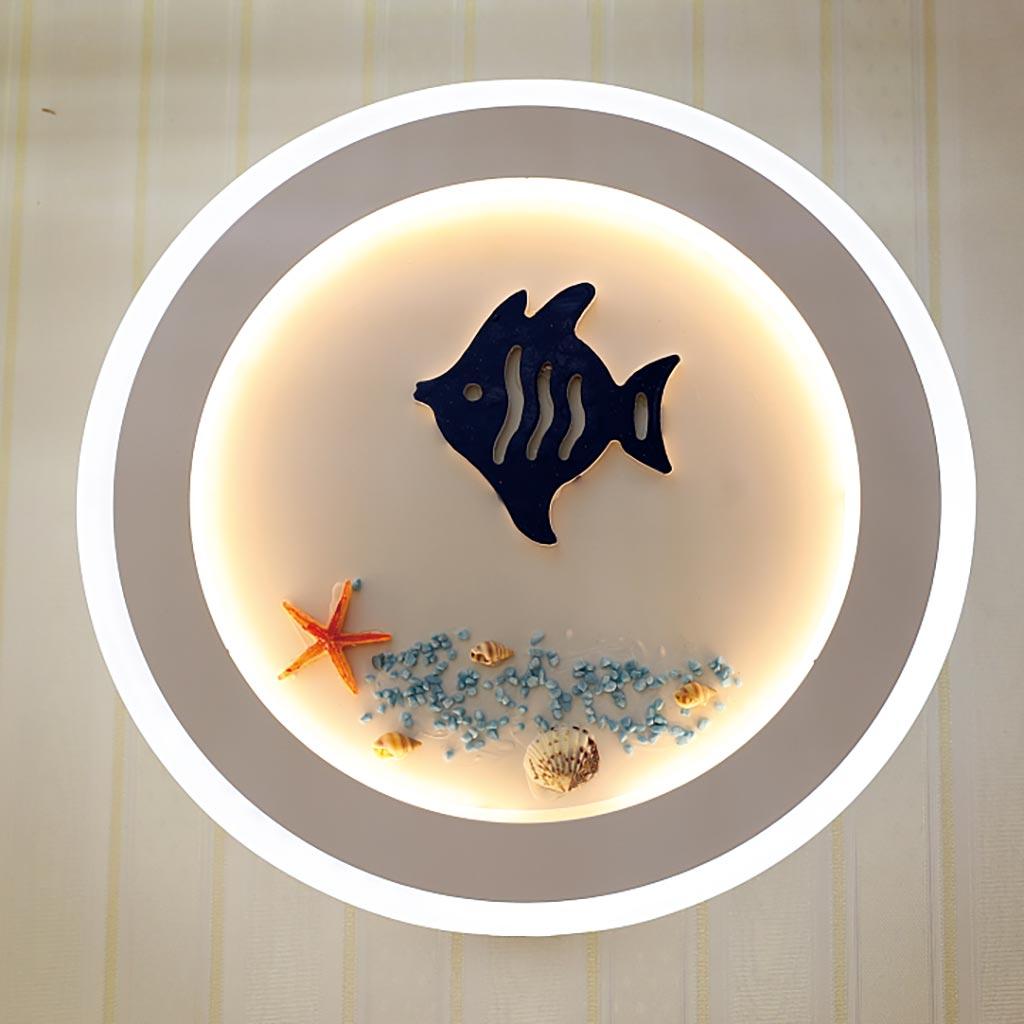 đèn ngủ hình con cá và vỏ sò biển