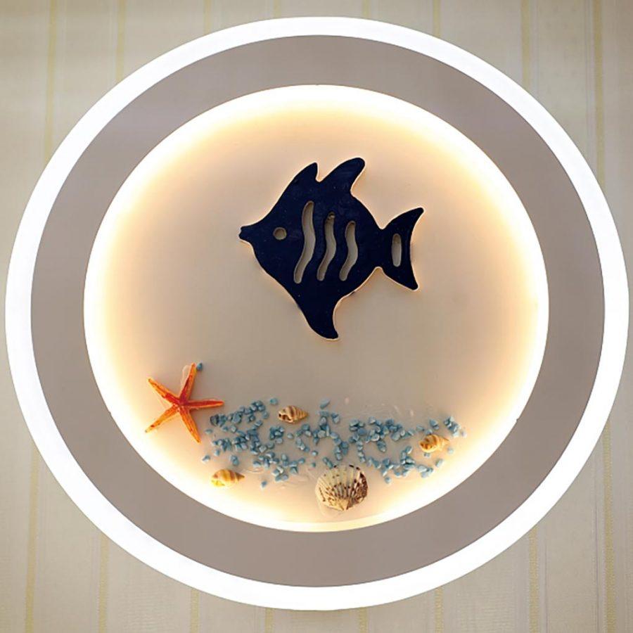 Đèn treo tường LED tròn hình con cá và vỏ sò biển Venus VR3194/1