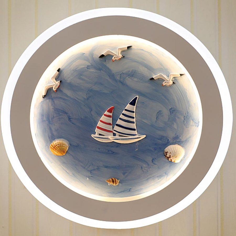 Đèn treo tường LED tròn con tàu và đại dương Venus VR3194/3