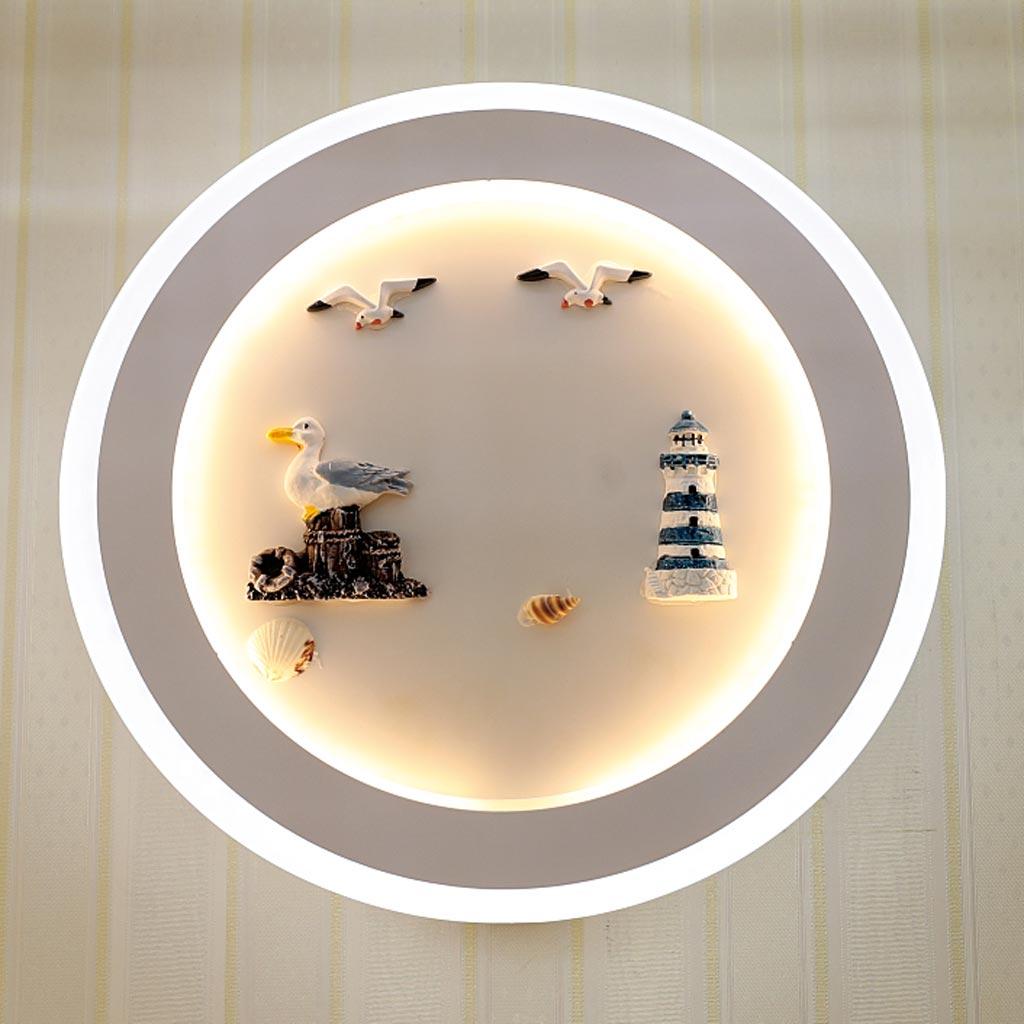 đèn ngủ gắn tường con chim và hải đăng