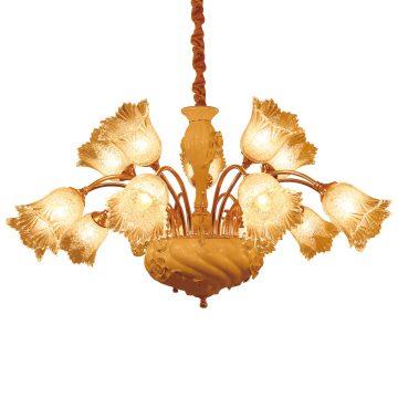 Đèn chùm sứ và thủy tinh cao cấp hình bông hoa 15 tay 1000mm Venus PC9258/10+5
