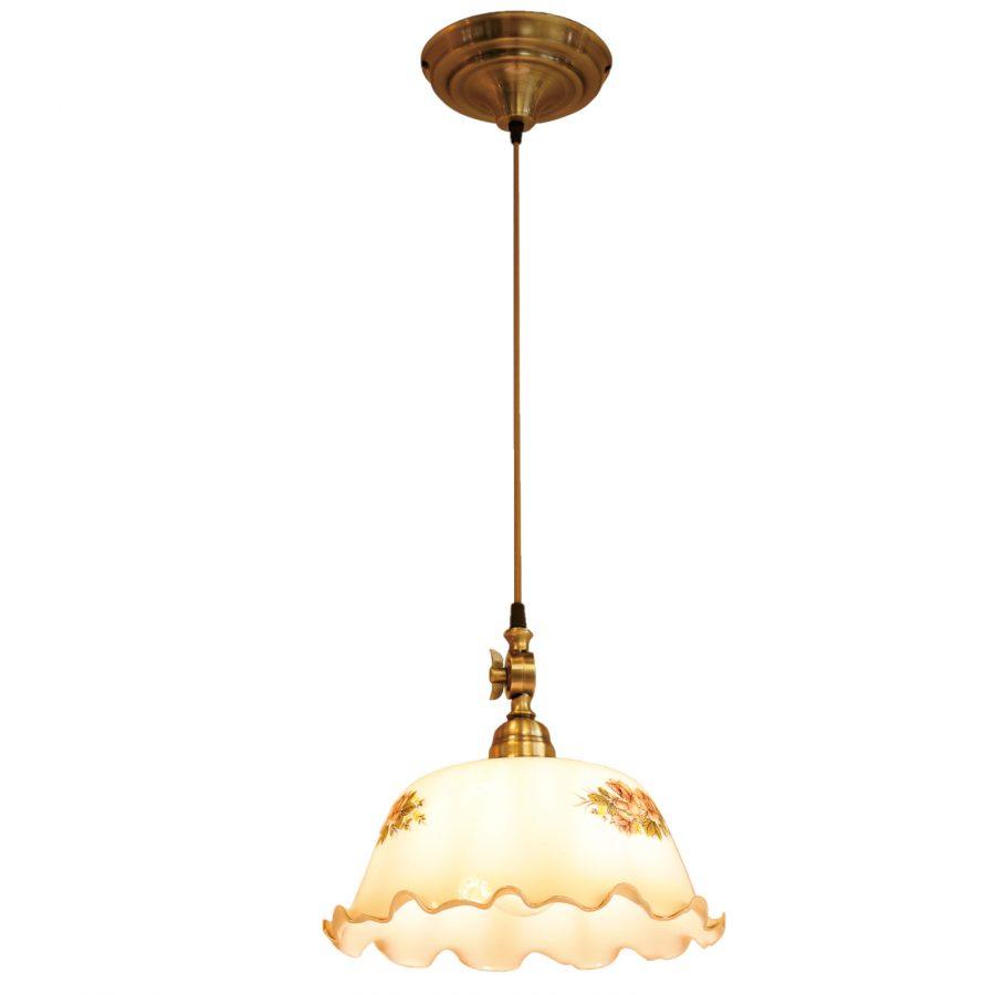 Đèn thả trang trí chao thủy tinh bông hoa chui giả đồng Venus 2016CLS