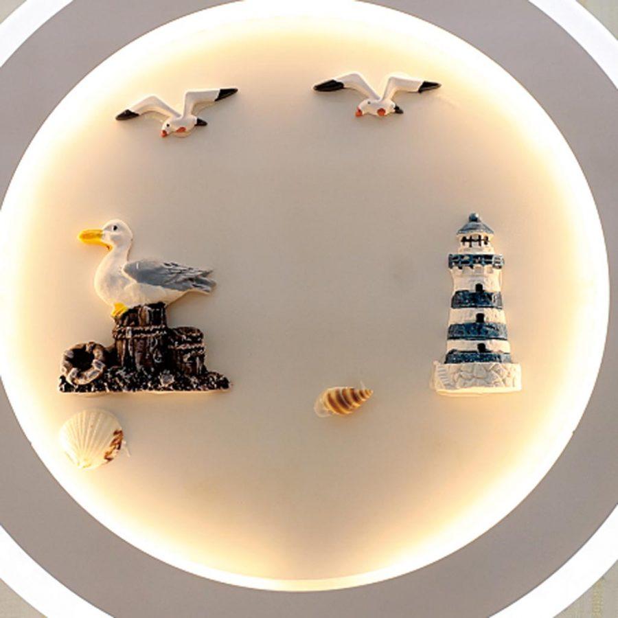 Đèn treo tường LED tròn hình chim & hải đăng Venus VR3194/4
