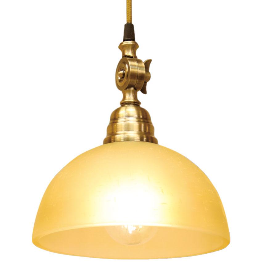 Đèn thả trang trí chuôi giả đồng chụp nữa hình cầu thủy tinh Venus 601GL